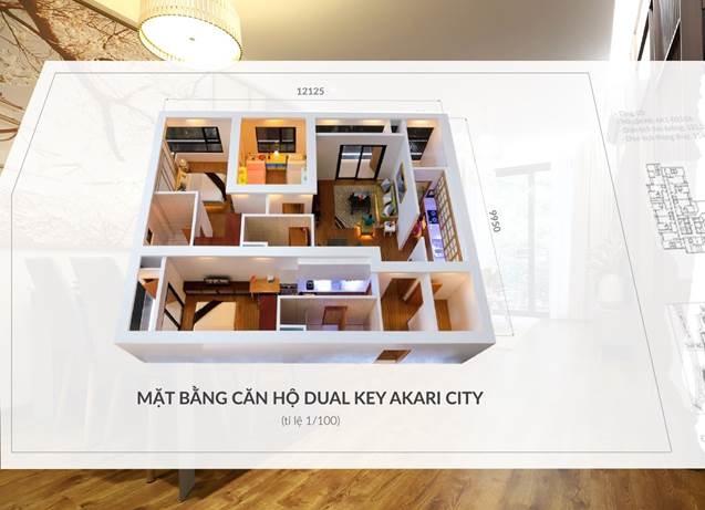 Thiết kế sáng tạo của Dual Key giúp cho chủ nhân chỉ cần mua một nhưng sở hữu 2 căn hộ độc lập đầy đủ công năng.