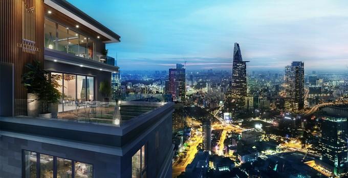 Nhờ đặc tính khan hiếm, bất động sản trung tâm TP HCM thu hút nhà đầu tư ngoại từ châu Á đến châu Âu. Ảnh phối cảnh: Novaland.