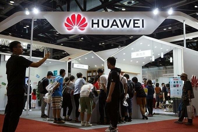 Gian hàng của Huawei tại một triển lãm ở Bắc Kinh hồi tháng 8/2019. Ảnh:Reuters
