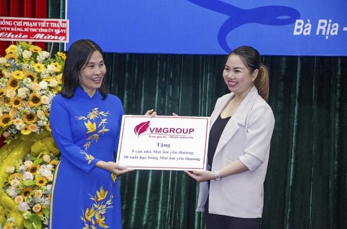 VMGroup tài trợ tỉnh Bà Rịa - Vũng Tàu xây dựng 5 căn nhà Mái ấm tình thương nhân kỷ niệm 90 năm thành lập Hội Liên hiệp Phụ nữ Việt Nam.