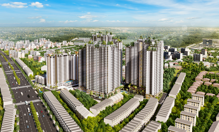 Phối cảnh tổng thể khu căn hộ phức hợp Legend Complex.