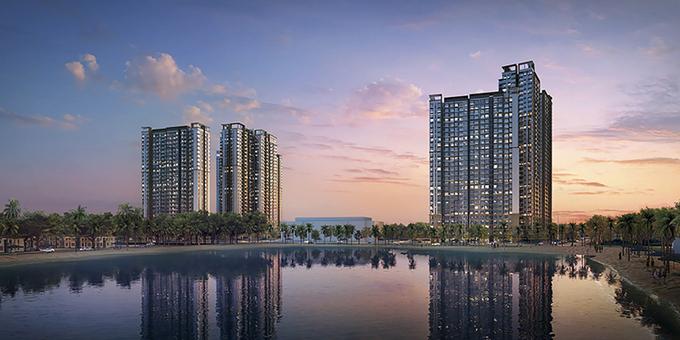 Phối cảnh tổng thể dự án Masteri Waterfront.