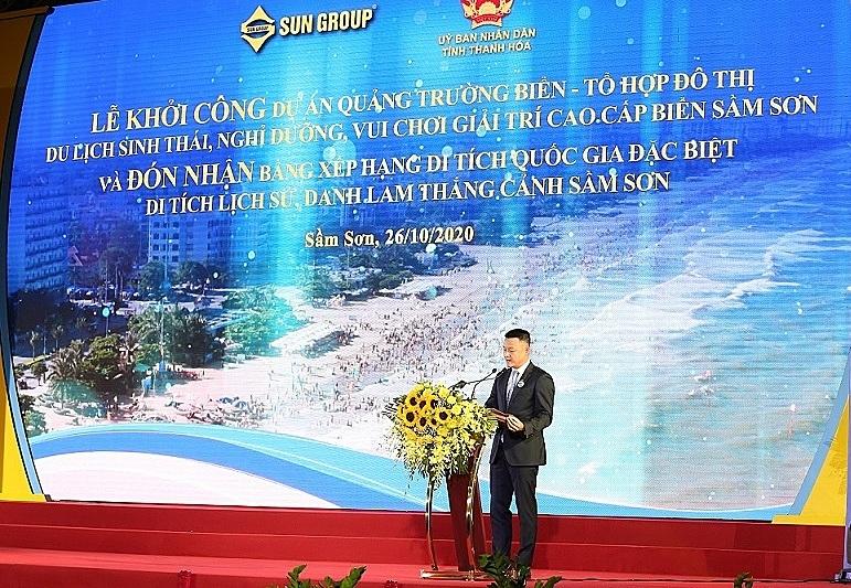 Ông Đặng Minh Trường - Chủ tịch HĐQT Tập đoàn Sun Group phát biểu tại sự kiện. Ảnh: Tập đoàn Sun Group.