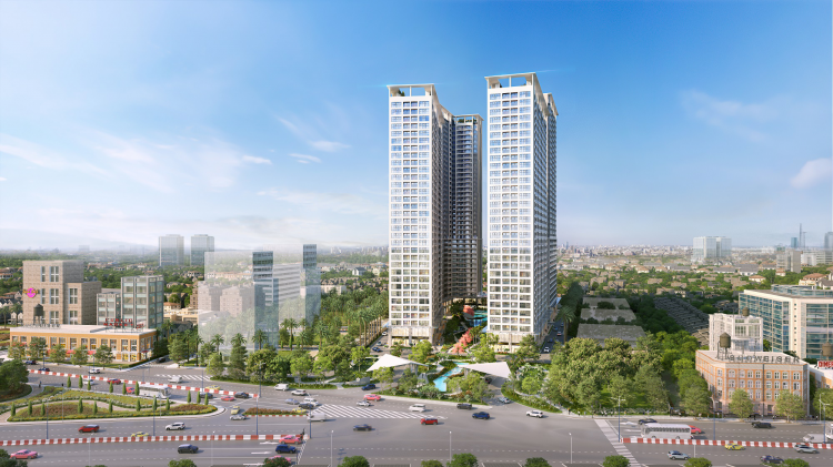 Phối cảnh dự án Anderson Park trên đại lộ Bình Dương và Nguyễn Thị Minh Khai tại TP Thuận An.