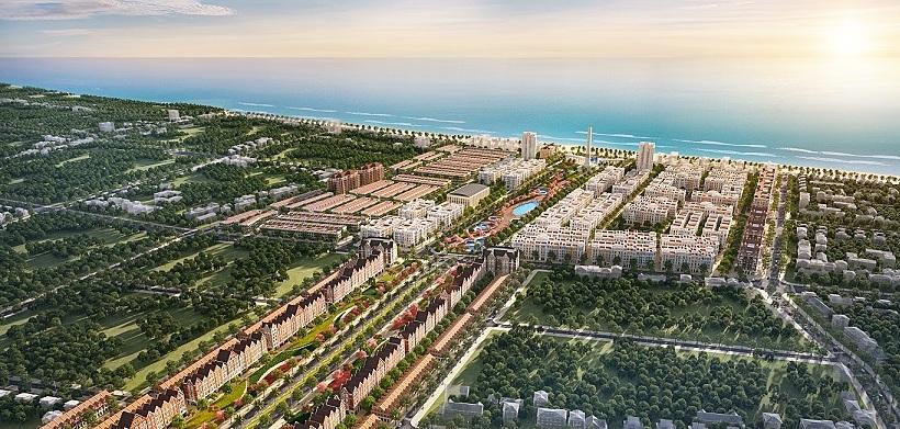Phối cảnh dự án quảng trường biển và tổ hợp đô thị du lịch sinh thái, nghỉ dưỡng, vui chơi giải trí cao cấp biển Sầm Sơn. Ảnh phối cảnh: Tập đoàn Sun Group.
