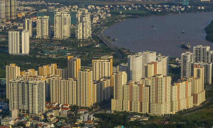 Thị trường nhà ở tại quận 2, thuộc khu Đông TP HCM. Ảnh: Quỳnh Trần.