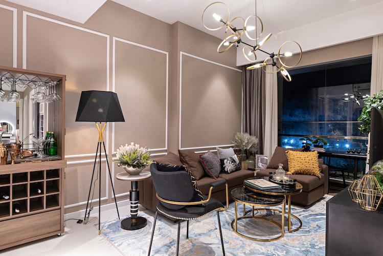 Nội thất được bài trí theo phong cách hiện đại.