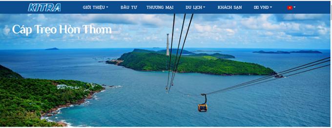 Giao diện website của Trung tâm xúc tiến Đầu tư, Thương mại và Du lịch Kiên Giang.