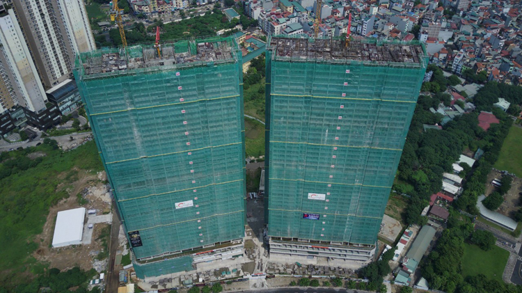 Hình ảnh thực tế thi công dự án The Matrix One.