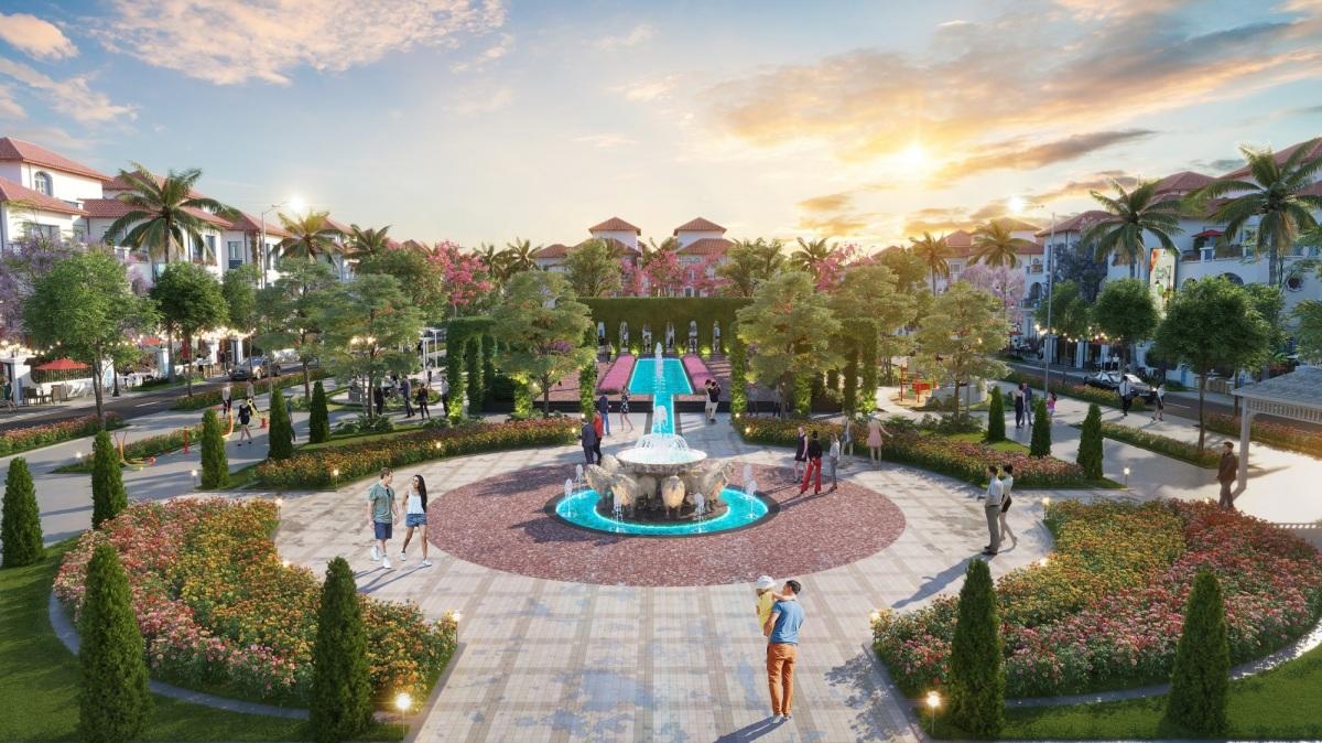 Hệ thống công viên phong cách Tây Ban Nha tại Sun Grand City Feria