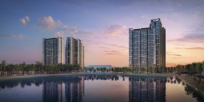Dự án Masteri Waterfront, tọa lạc tại trung tâm đại đô thị Vinhomes Ocean Park.