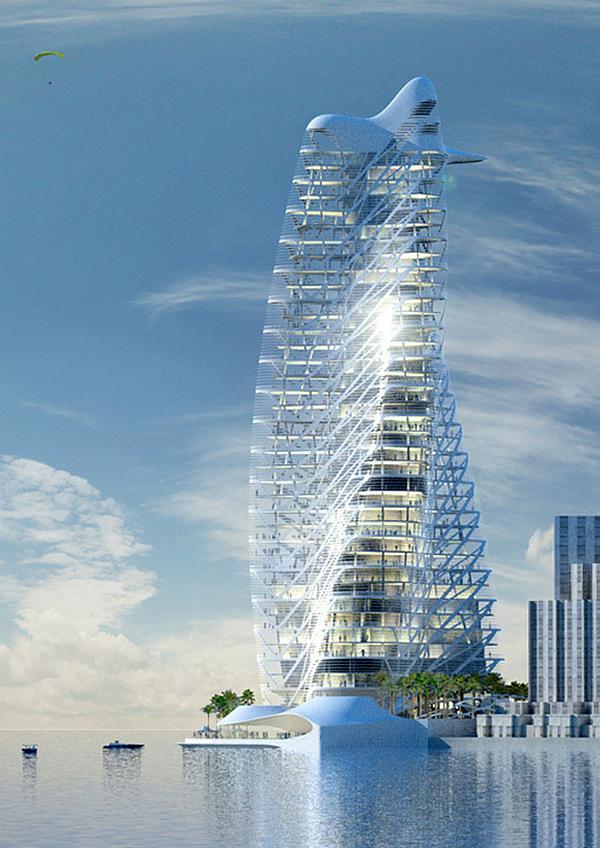 Toà tháp Strata Tower do