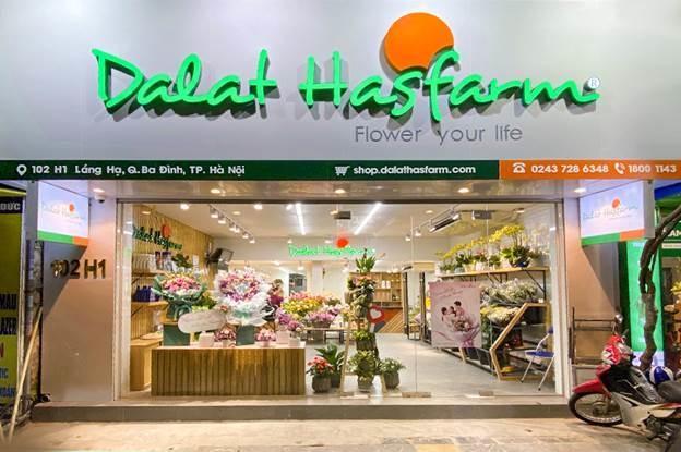 Cửa hàng hoa tươi mới khai trương của Dalat Hasfarm. Ảnh: Dalat Hasfarm.