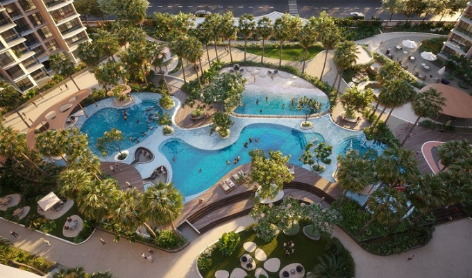 Tựa như một resort biển, Diamond Centery chăm chút cho cư dân một không gian sống đẳng cấp và đầy tinh hoa