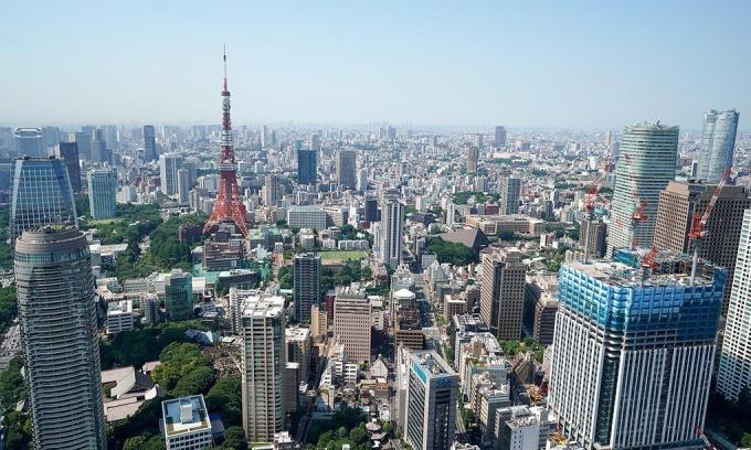 Thị trường bất động sản thương mại tại thủ đô Tokyo, Nhật Bản. Ảnh:Reuters.