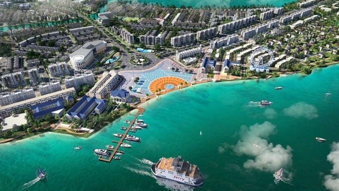Aqua City được thiết kế ba lớp không gian xanh cùng hệ thống tiện ích đẳng cấp, hướng đến kiến tạo cuộc sống chất lượng cao cho cộng đồng cư dân tinh hoa. Phối cảnh: Novaland.