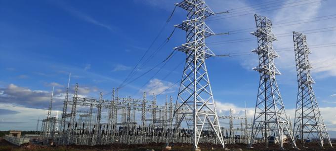 Trạm biến áp 500kV tại dự án.