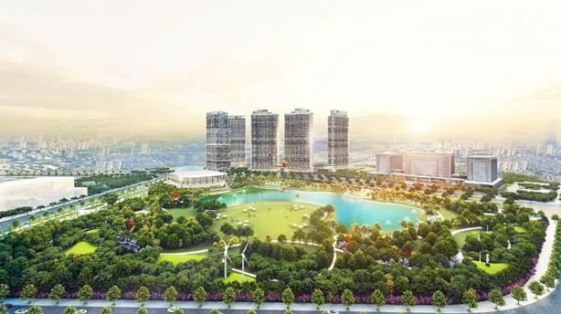"""Tổ hợp cao ốc hạng A The Matrix One sở hữu tầm nhìn """"triệu đô"""" đối diện công viên cảnh quan rộng 14ha"""