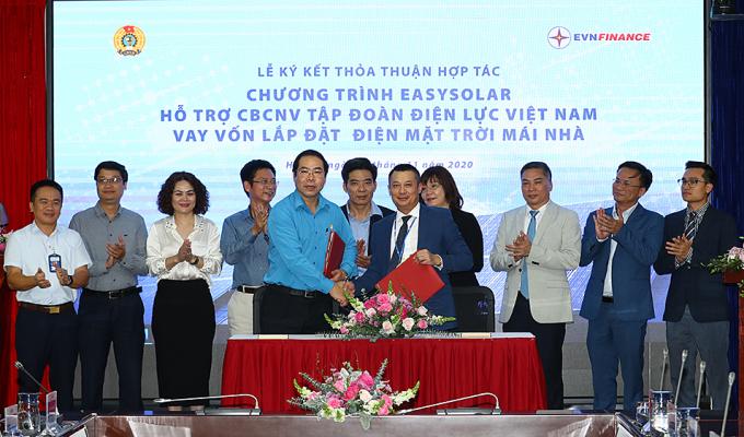 EVNFinance ký kết thỏa thuận hợp tá