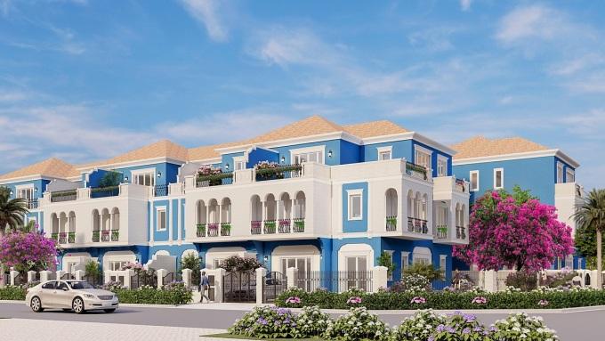 Không gian sống xanh, rộng thoáng như biệt thự của nhà phố diện tích lớn Aqua City. Ảnh phối cảnh: Novaland.