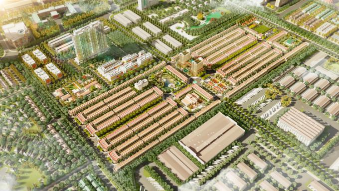 Phối cảnh tổng thể dự án Thăng Long Central City.