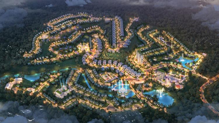 Phối cảnh tổng thể dự án Ivory Villas & Resort.