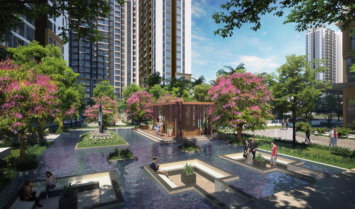 """Masteri Waterfront nhận giải thưởng """"Dự án căn hộ cao cấp xuất sắc nhất - Hà Nội"""" và """"Thiết kế nội thất căn hộ cao cấp xuất sắc nhất"""" tại lễ trao giải PropertyGuru Vietnam Property Awards 2020."""