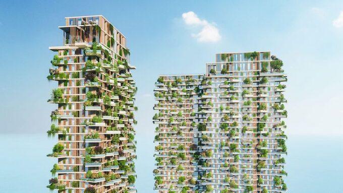 Phối cảnh tòa tháp Sol Forest Ecopark.