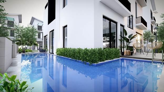 Mỗi căn biệt thự đơn lập phiên bản giới hạn của Khải Sơn Hill đều sở hữu một bể bơi.