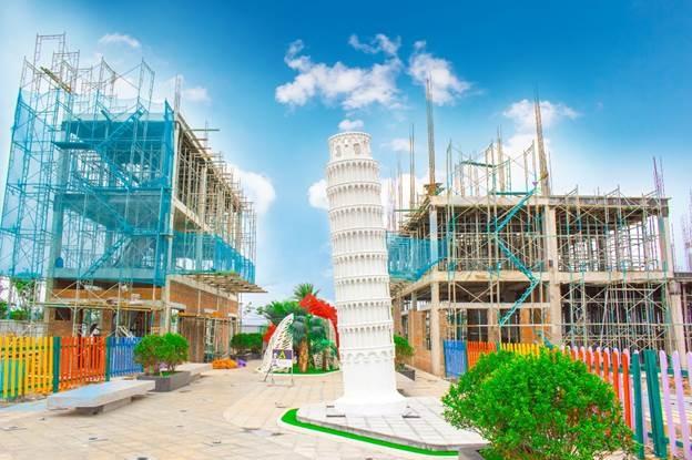 Một góc dự án nhà phố thương mại trong khu đô thị mới Hà Tiên