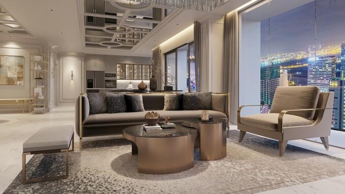 Biệt thự tầm cao tại The Grand Manhattan sở hữu diện tích 150m2 với số lượng giới hạn.