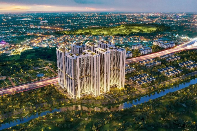 Khu phức hợp thương mại và căn hộ cao cấp Astral City tại mặt tiền Quốc lộ 13 (Thuận An, Bình Dương).