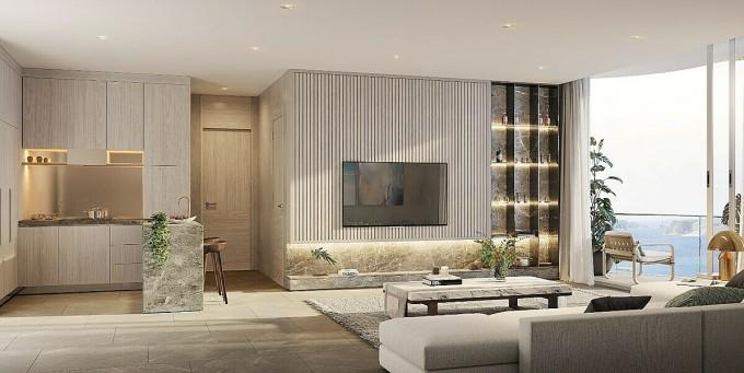 Các căn hộ The Aston Luxury Residence được DKO Architecture chăm chút hài hòa, tối ưu không gian sống của gia chủ. Ảnh: Danh Khôi.
