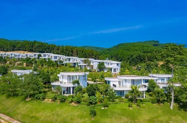 Toàn cảnh khu biệt thự nghỉ dưỡng Ivory Villas & Resort.
