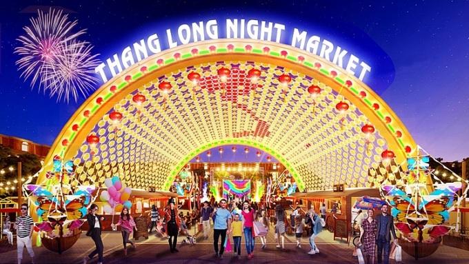 Phối cảnh Thăng Long Night Market.