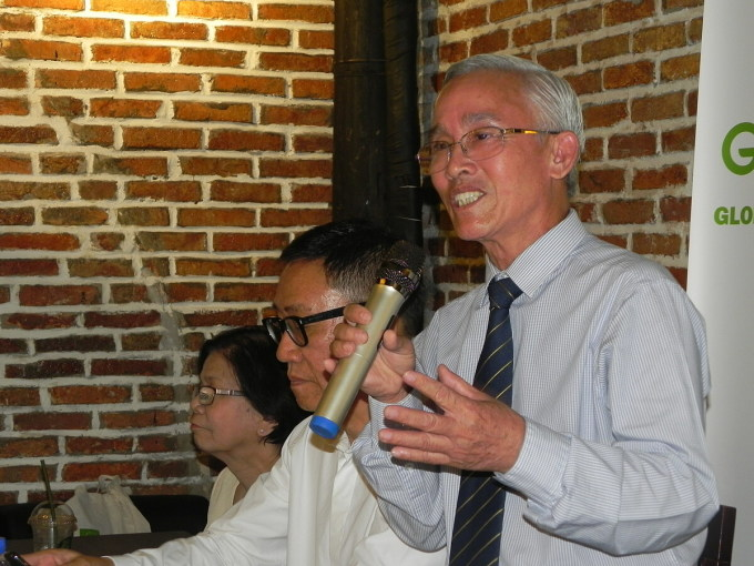 Ông Phạm Thái Bình tại một buổi tọa đàm về nông nghiệp hữu cơ ngày 21/11. Ảnh: Trần Quỳnh.