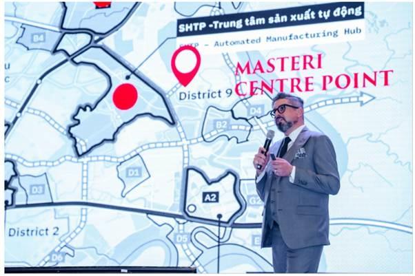 Ông Gibran Bukhari tin tưởng vào sự phát triển mạnh mẽ của bất động sản quận 9. Ảnh: Masterise Homes.