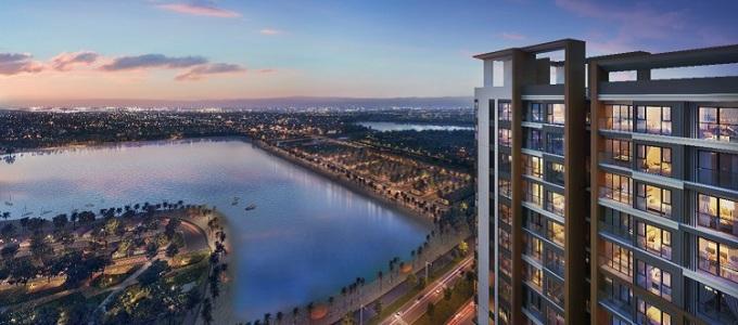 Tầm nhìn đắt giá hướng trực diện biển hồ tại dự án Masteri Waterfront.