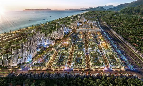 Thanh Long Bay đang là tâm điểm đầu tư tại Bình Thuận. Ảnh: Nam Group.