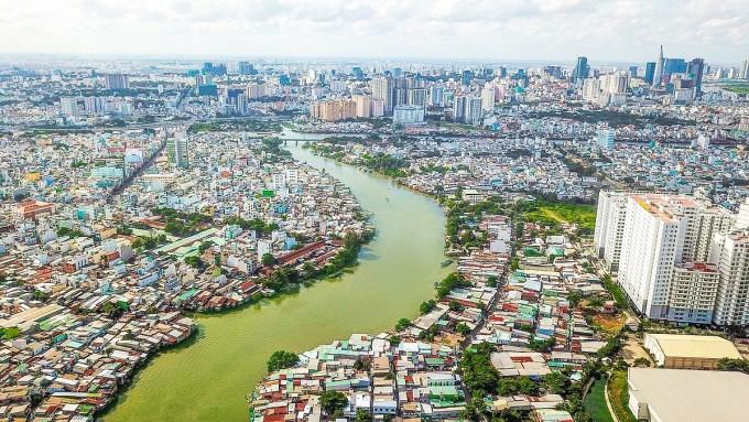 Tây Nam Sài Gòn có quy mô dân số lớn, nhu cầu nhà ở cao. Nguồn: ___________