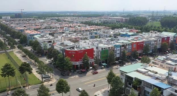 Khu vực lõi trung tâm thành phố mới Bình Dương, liền kề thị xã Bến Cát, phát triển sầm uất. Ảnh: Khang Việt.