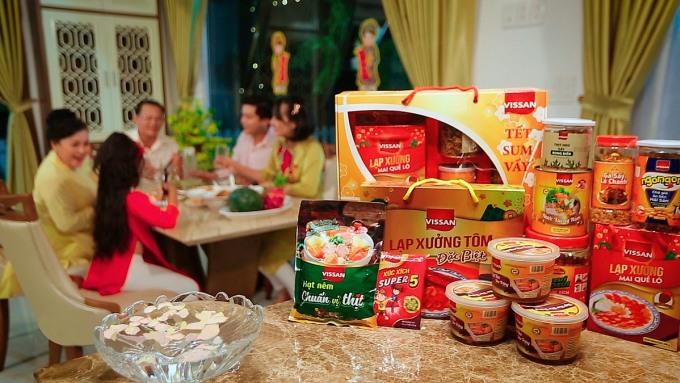 Vissan phát triển danh mục sản phẩm đa dạng từ món ăn tiện lợi đến món phù hợp bữa cơm gia đình. Ảnh: Vissan.