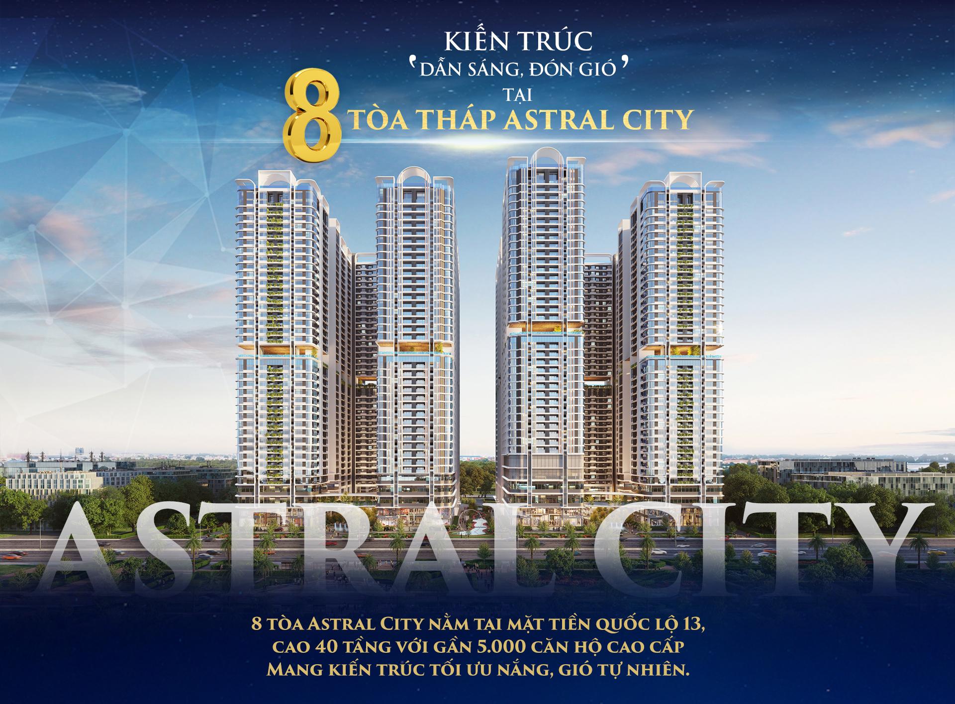 Kiến trúc 'dẫn sáng, đón gió' tại 8 tòa tháp Astral City 2020 10