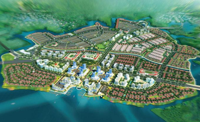 Phối cảnh dự án Dong Nai Waterfront City LLC.