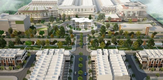 Bất động sản duy trì sức hấp dẫn với nhà đầu tư. Ảnh phối cảnh dự án Garden Riverside (Long An).