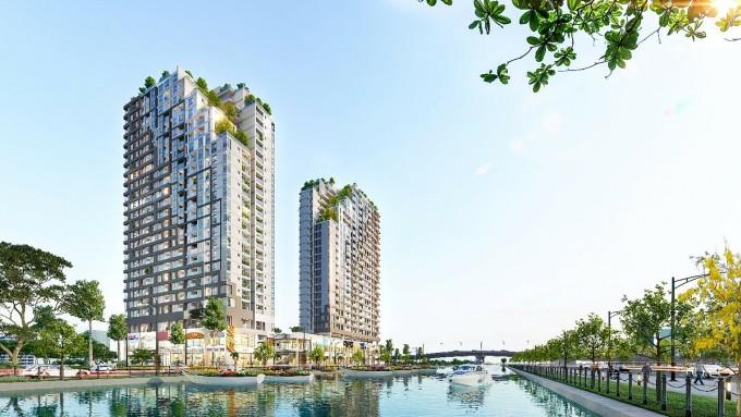 D-Aqua là dự án được phát triển nhằm đón đầu đà gia tăng giá trị của bất động sản quận 8. Ảnh phối cảnh: DHA Corporation.