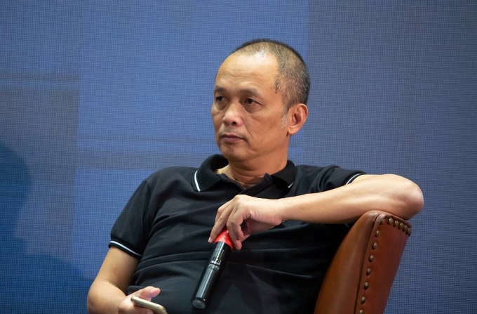 Ông Nguyễn Thành Nam, cựu Tổng giám đốc FPT, hiện là Nhà sáng lập Đại học Funix  tại sự kiện ngày 29/11 ở TP HCM. Ảnh: Thế Danh.