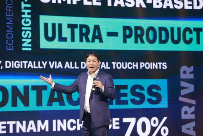 Ông Trương Gia Bình tại Diễn đàn FPT Techday 2020