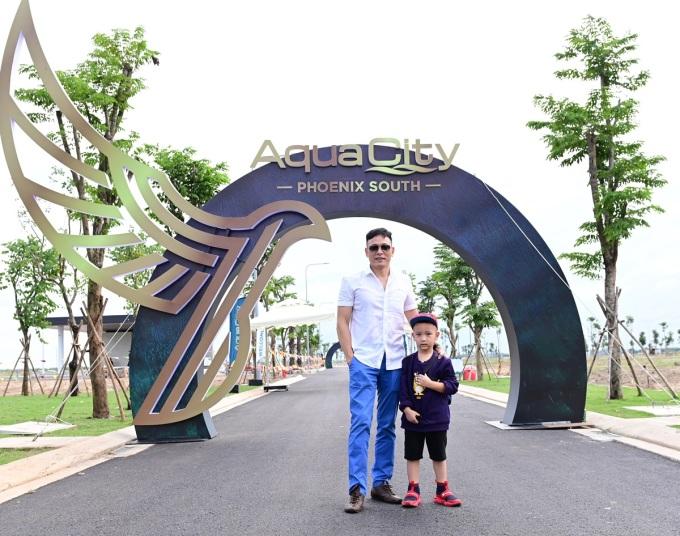Ngô Quang Hải đánh giá khu đô thị sinh thái Aqua City đáp ứng cả hai tiêu chí anh tìm kiếm
