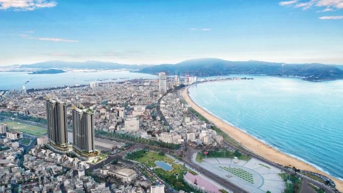 Dự án I-Tower hứa hẹn là điểm sáng bất động sản tại thị trường Quy Nhơn giàu tiềm năng. Ảnh phối cảnh: Đô Thành.